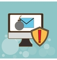 Cyber Security antivirus design vector image vector image