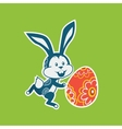Easter Rabbit Icon Egg Design Flat vector image vector image