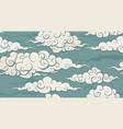 eastern seamless cloud pattern vector image