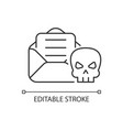 email phishing linear icon vector image