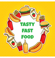 fast food wreath new vector image vector image