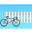 Fence with a bicycle vector image vector image
