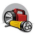 flashlights vector image vector image