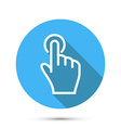 Flat Social icon hand touch vector image vector image