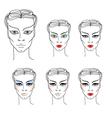 flower girl makeup vector image