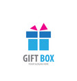 gift box logo for business company simple gift vector image