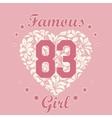 Girl T-shirt Design vector image