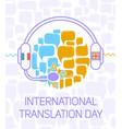greeting card international translation day vector image vector image