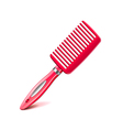 Hair comb isolated on white vector image