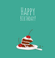 happy birthday card with number 10 candle vector image vector image