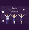 happy kids back to school pupils uniform vector image vector image