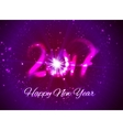 Happy New Year 2017 greeting card design for you vector image