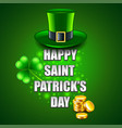 happy st patricks day concept on green background vector image vector image