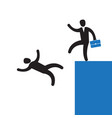layoff concept boss dismissed employee falling vector image
