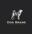 logotype dog vector image vector image