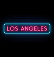 los angeles neon sign bright light signboard vector image vector image