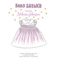 lovely baby shower card with golden glittering vector image vector image
