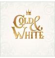 luxury inscription Gold and White with crown vector image vector image