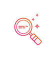 magnifying glass line icon magnifier or vector image