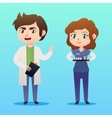 Medical staff character Young man doctor vector image vector image
