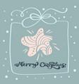merry christmas calligraphic text christmas vector image vector image