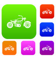 motorcycle set collection vector image
