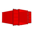 open cargo container vector image vector image