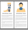 orthopedic tools posters set vector image vector image