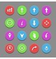 plain round arrow icons Eps10 vector image