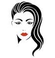 portrait a girl head a beautiful girl face vector image vector image