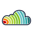 rainbow cloud solution vector image