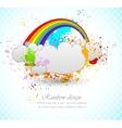 Rainbow design vector image