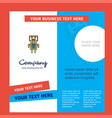 robots company brochure template business template