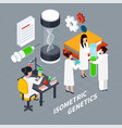 science and genetics isometric concept vector image vector image