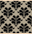 Seamless black lace pattern on beige background vector image vector image