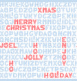 seamless typographic christmas background design vector image vector image