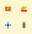 set of industry icons flat style symbols with wall vector image