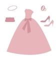 Set of wedding elements vector image vector image
