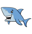 shark fish cartoon character vector image vector image
