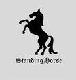 Standing Horse Logo vector image vector image
