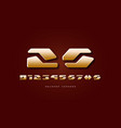 stock golden colored numerals vector image