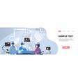surgeons medical team wearing virtual reality vector image