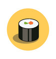 sushi roll japanese traditional food icon with vector image