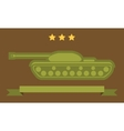 Tank Flat Icon vector image vector image