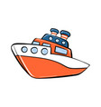 toy ship icon cartoon style vector image