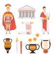 traditional symbols ancient roman empire set vector image vector image