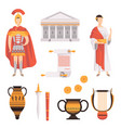 traditional symbols of ancient roman empire set vector image vector image