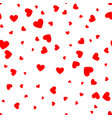 valentines day red hearts seamless holiday vector image