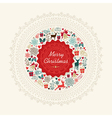 Vintage Christmas greeting card background vector image vector image