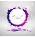 Watercolor design circle template vector image vector image